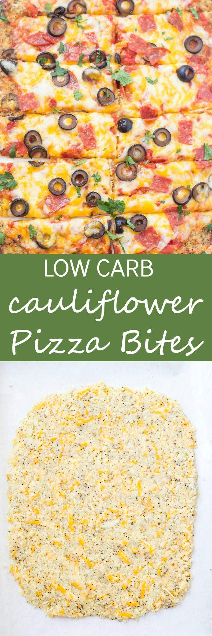 Low Carb Cauliflower Pizza Bites are hands-down the best pizza bites! Loaded with fresh vegetables, spices, and seasonings. Your taste buds will be in heaven and will not even notice a difference from traditional pizza. Paleo and Whole 30 compliant!