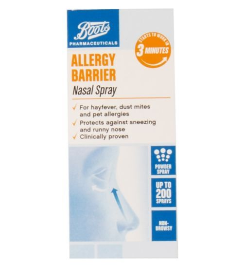 Boots Allergy Barrier Nasal Spray 800mg - Boots Boots Allergy Barrier Nasal Spray 800mg 1756486 £4.66 or 466 points