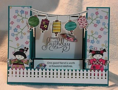 Inspiration - Use Pagoda in Explosion box and hang lanterns across.