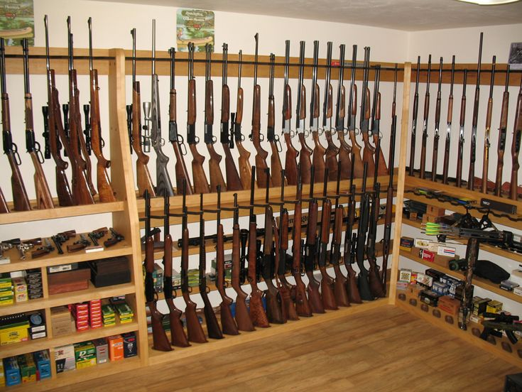 Offset Double Level Vertical Gun Rack - www.gun-racks.com
