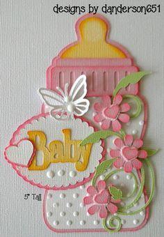 Baby Pink Die Cuts Paper Piecing PreMade Border Scrapbook Album danderson651 #danderson651