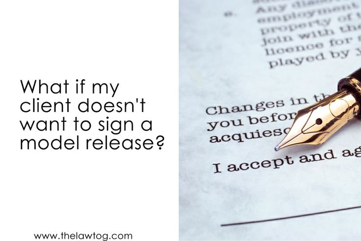 What happens if a client wants to decline a model release? #photography #contract #legal