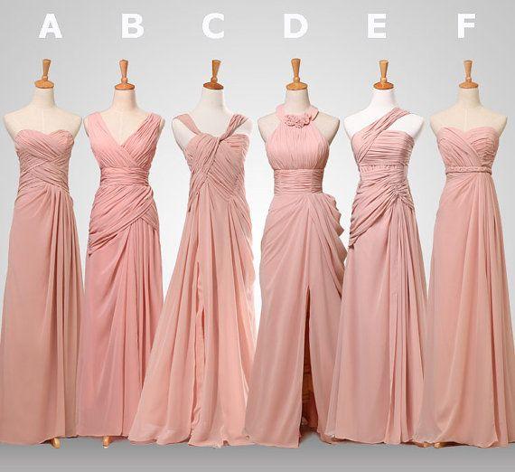 Chiffon bridesmaid dress Coral bridesmaid dress by DressStories, $89.00 I like A