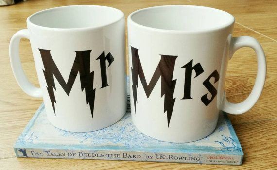 Available to order on Etsy at https://www.etsy.com/uk/listing/243166109/harry-potter-his-and-hers-mr-and-mrs
