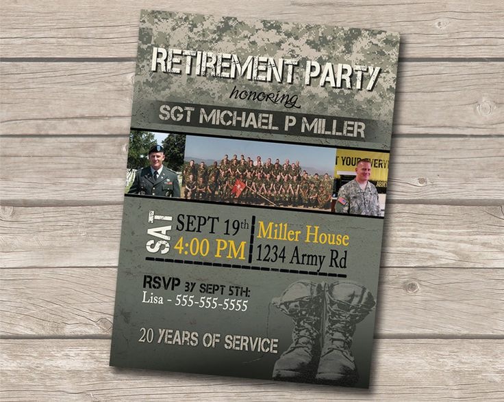 Military Retirement Party by AnnouncedCreations on Etsy