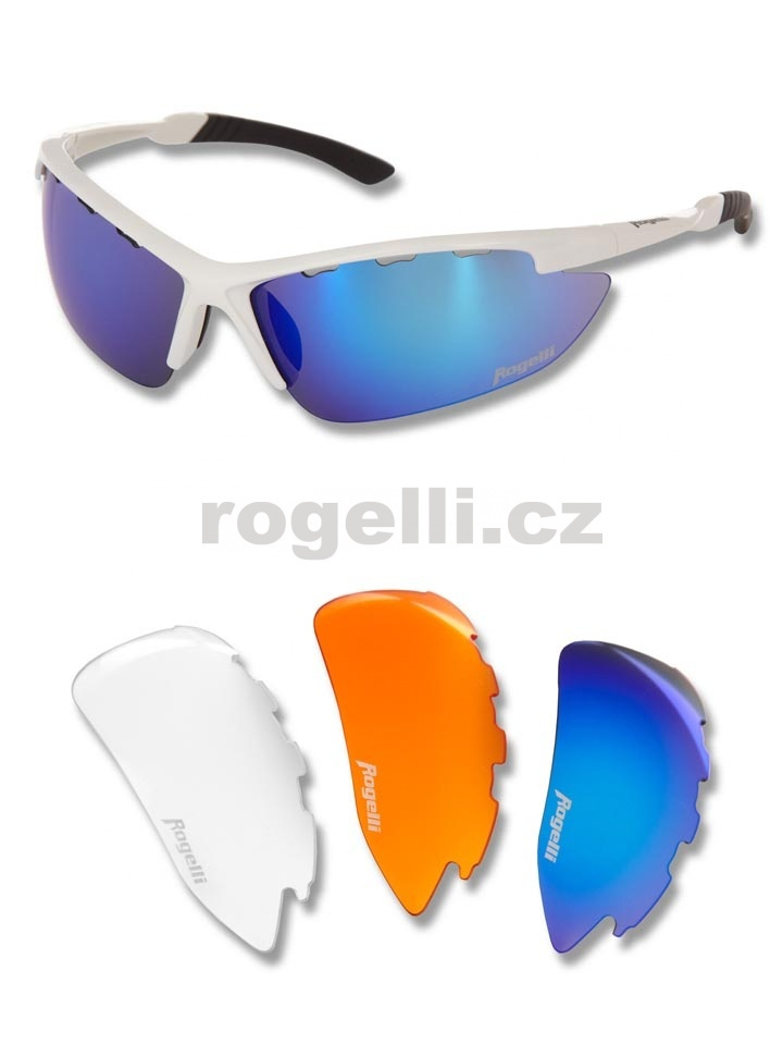 Cyklistické brýle Rogelli CONDOR, bílé
