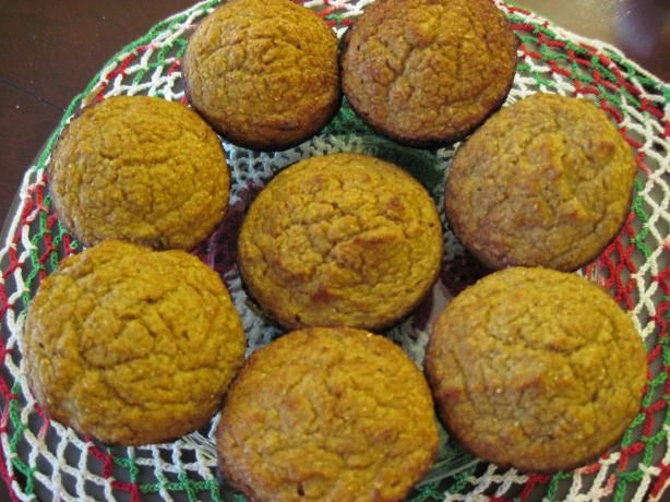 Yellow Squash Muffins from Food.com: I found this recipe in a newspaper article many years ago. It's really delicious.The original recipe called for 1 cup melted butter. I use 1/2 cup butter & 1/2 cup applesauce.