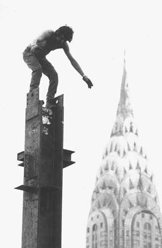 Alex Mayo from Kahnawake working on the empire state building