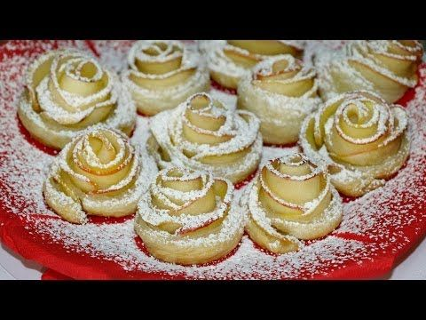 Ну, оОчень вкусный Десерт - Розочки из Слоеного теста! - YouTube