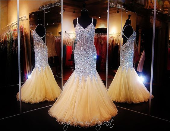 Beauty sweetheart neckline mermaid open back beading prom dress pageant formal dress - Thumbnail 1