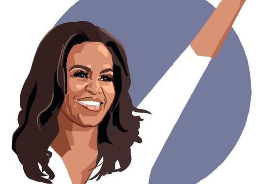 Michelle Obama Illustration Art Print When They Go Etsy Obama Art Obama Painting Michelle Obama