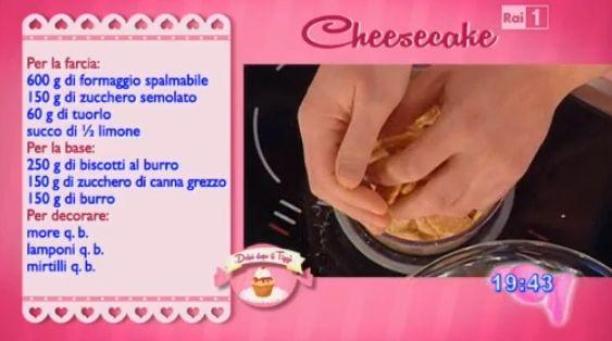 Dolci dopo il tiggì: Dolci dopo il tiggì del 26 febbraio 2015: cheesecake cotto di Riccardo Facchini e desiderio al caffé, cioccolato e arancia di Sal De Riso