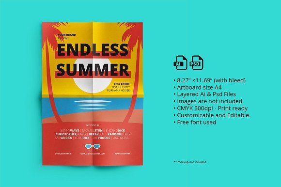 Summer Fest Flyer/ Poster 03 by ihsankl on @creativemarket