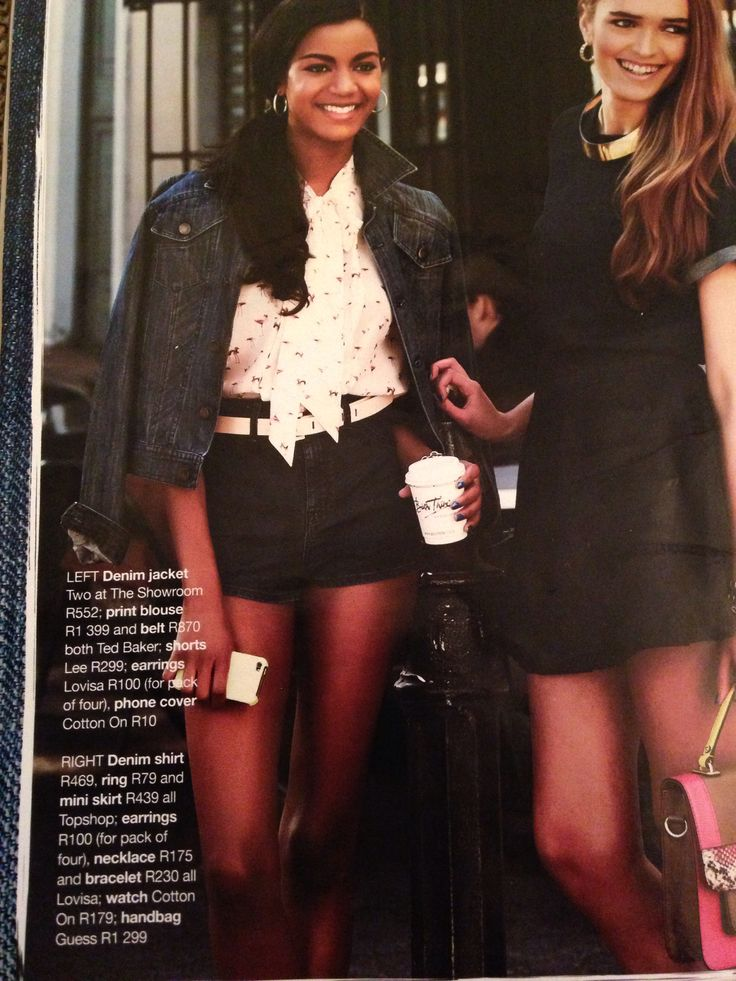 Lee Black shorts in Glamour Oct issue