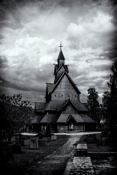 'Heddal stavechurch' by studio-toffa on artflakes.com as poster or art print $18.03