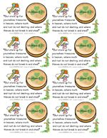 Children's Church for March- These printable bible verse cards are perfect for St. Patrick's Day. Use this opportunity to teach children to store up their treasures in heaven! There is the verse from Matthew 6:20, as well as a place to tape on a chocolate gold coin as a treat for kiddos!