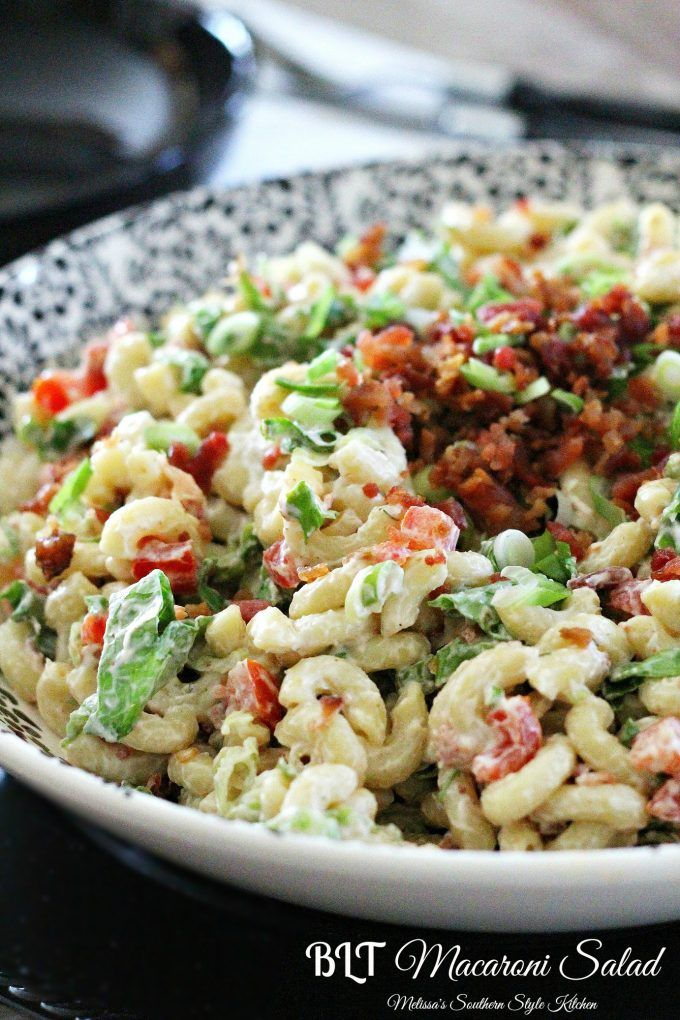 BLT Macaroni Salad - This BLT macaroni salad is a fusion dish combining everything we love about a BLT sandwich and a pasta salad.