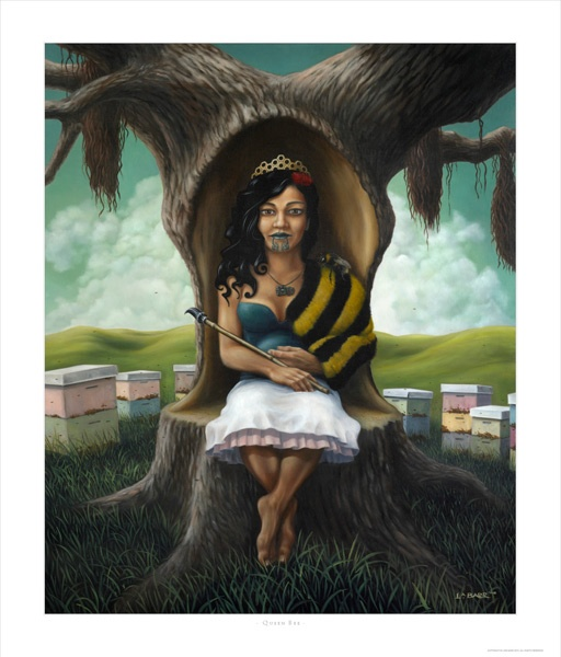 Queen Bee - Liam Barr. I wanted to buy this for a friend. We have the best Liam Barr though, with the penguin and the hook hand