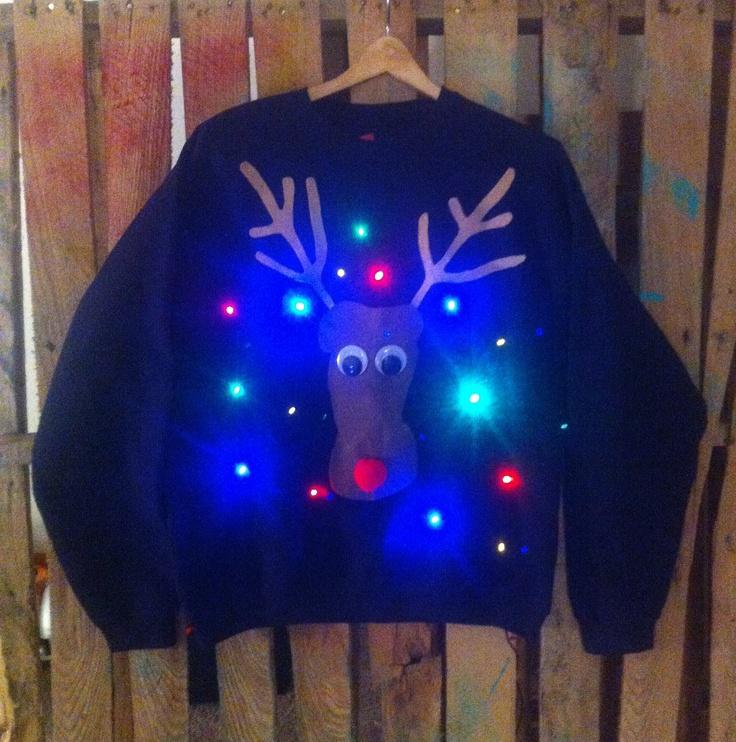 Lightup Christmas sweater by WinsumDesign on Etsy, $45.00
