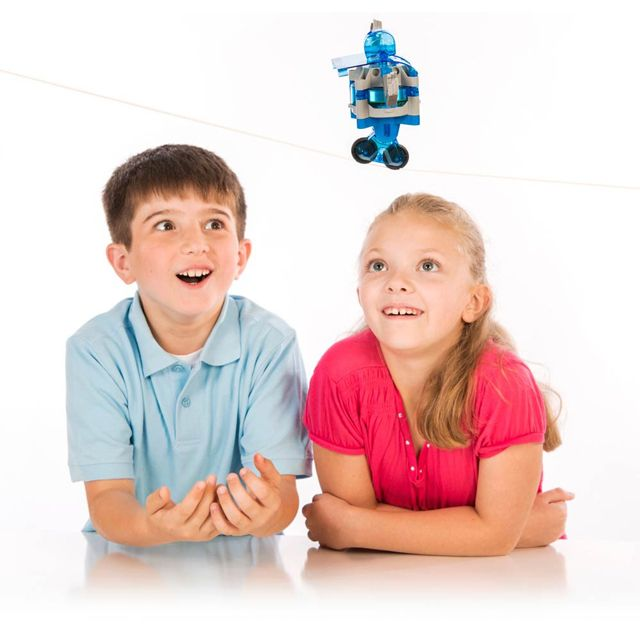 With this award-winning Gyrobot kit, you can explore the extraordinary powers of the gyroscope by assembling 7 different motorised models including a gyrocompass, flight simulator, tightrope walker and more!