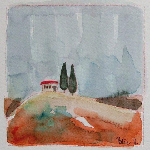 Memories Of Tuscany Watercolour Tuscany Watercolour Small