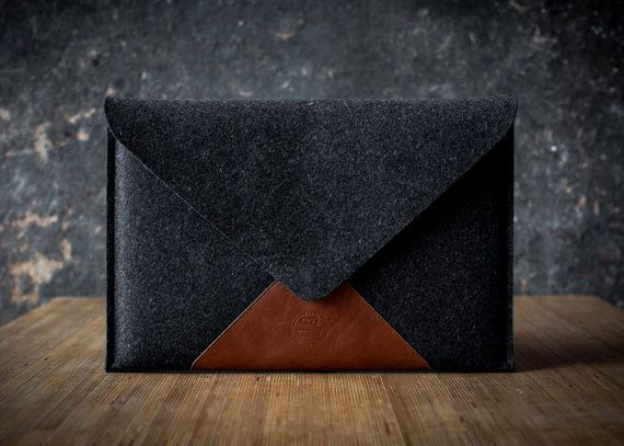 LOVE!!! need this for my new baby :) MacBook 13 AIR case briefcase italian leather by cinnamoncocoon, $90.00