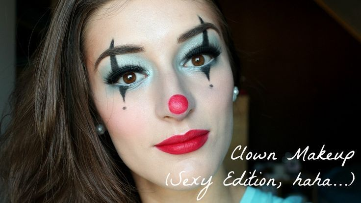 clown makeup... or NOT the sexy edition.