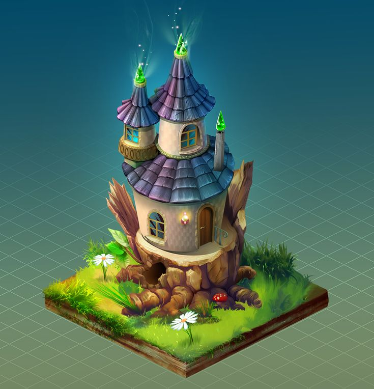 Fairy house- Сoncept Art on Behance