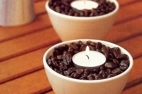 Coffee Scented Candle Holder