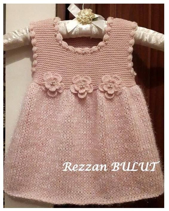 knitted baby dress https://www.facebook.com/Yesimin.El.iSi.Bahcesi/photos/a.268390056528055.71437.197674700266258/925035567530164/?type=1