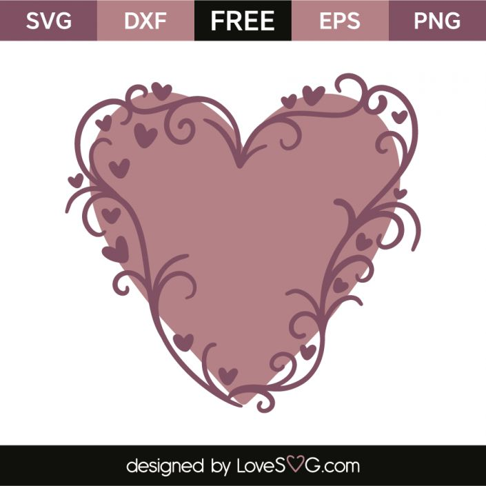 *** FREE SVG CUT FILE for Cricut, Silhouette and more *** Heart