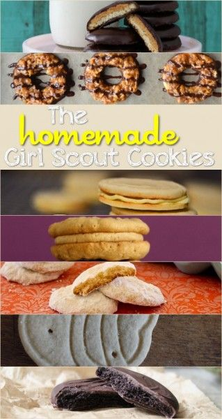 The Homemade Girl Scout Cookies Recipes!  Which is your favorite?  Samoas are calling my name...!  :)