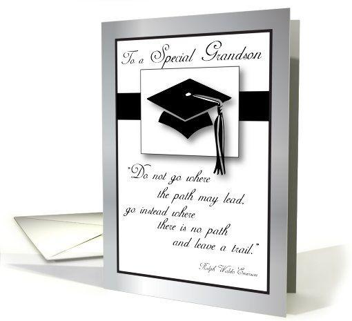 Grandson Graduation Hat, Tassel card (566049)