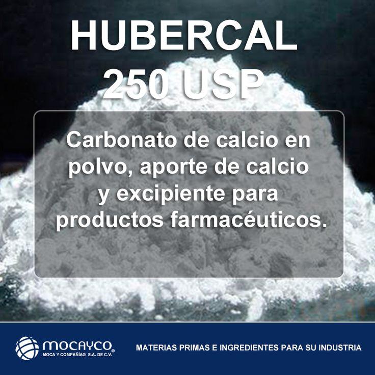 Farmacéuticos y Nutracéuticos, Suplementos de Calcio.  HUBERCAL 250 USP.  CARBONATO DE CALCIO EN POLVO, APORTE DE CALCIO Y EXCIPIENTE PARA PRODUCTOS FARMACÉUTICOS.