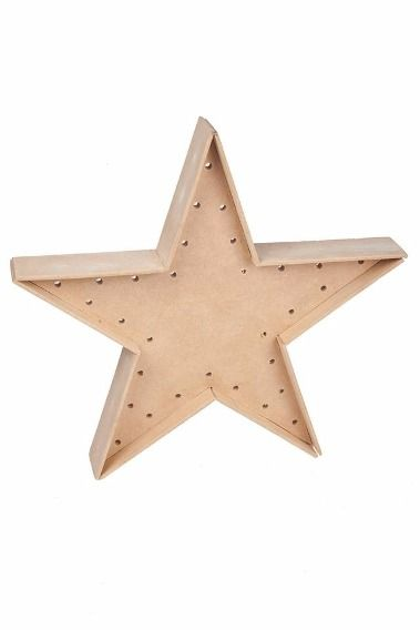 Estrella Para Luces Navidad Madera 30cm