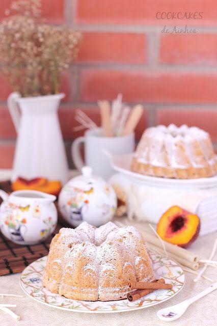 Cookcakes de Ainhoa: BUNDT CAKE DE MELOCOTÓN Y CANELA
