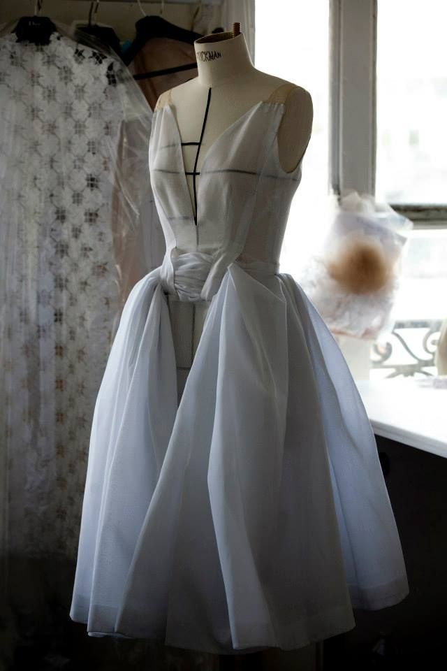 Toile look inside the atelier for Christian Dior haute couture s/s 2014, photograhed by Sophie Carre