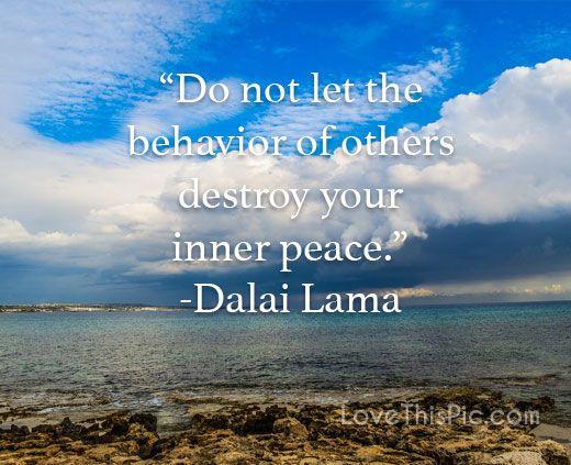 Do not let the behavior