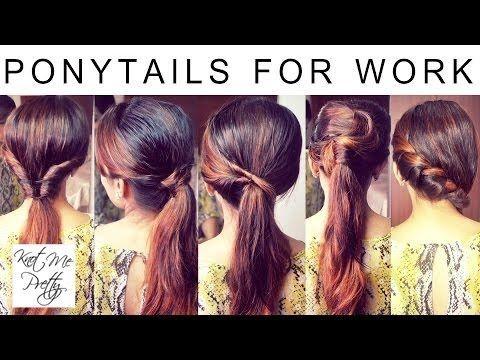 5 coiffures rapides et faciles de queue de cheval pour l'école, l'université, les coiffures de travail / indiennes pour les cheveux moyens / longs
