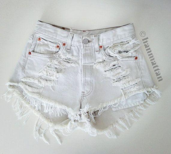White Jeans Shorts