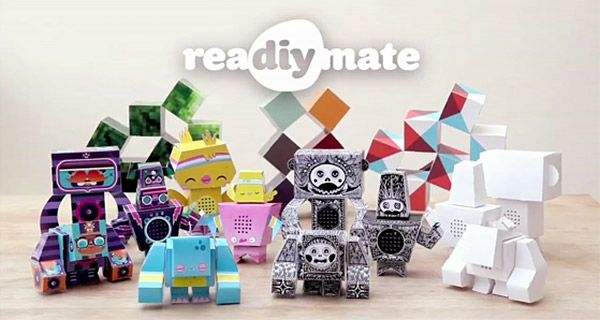 reaDIYmate: Remote-Controlled Robots Made from Paper. http://kck.st/w3Hngj