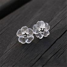 11.11 Venda Grande Flor na Chuva Nova Chegada Real 925 Sterling Silver Brincos para Mulheres Brincos de Jóias Feitas À Mão de Lótus(China (Mainland))