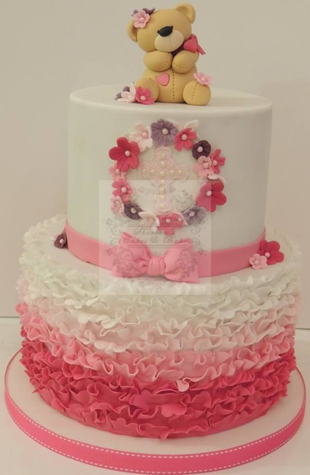 Pink And Purple Baby Shower Cake