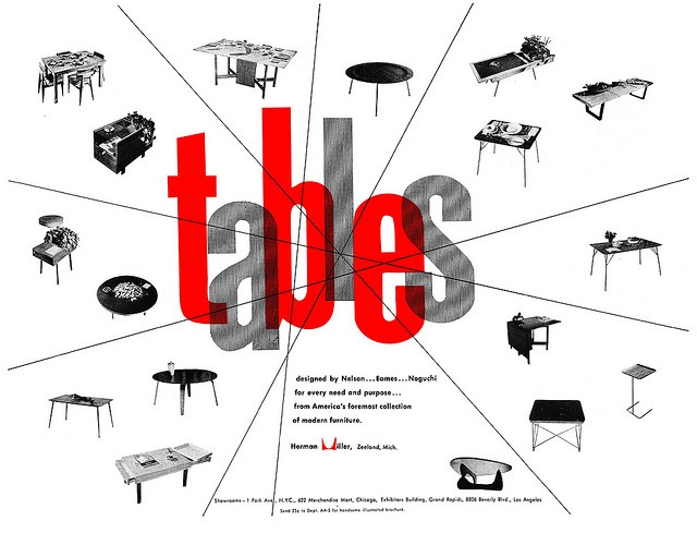 "Herman Miller Ad ""Tables"" 1951"