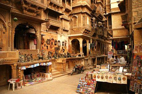 ジャイサルメール 砂漠の町: インド