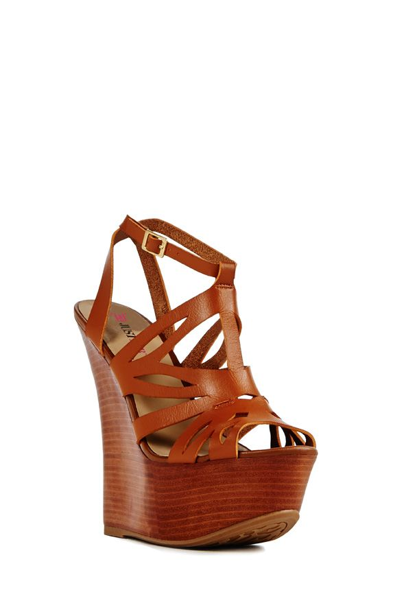 The wait is over: Bianka by JustFab has arrived. Take on the town in this head turner wedge.
