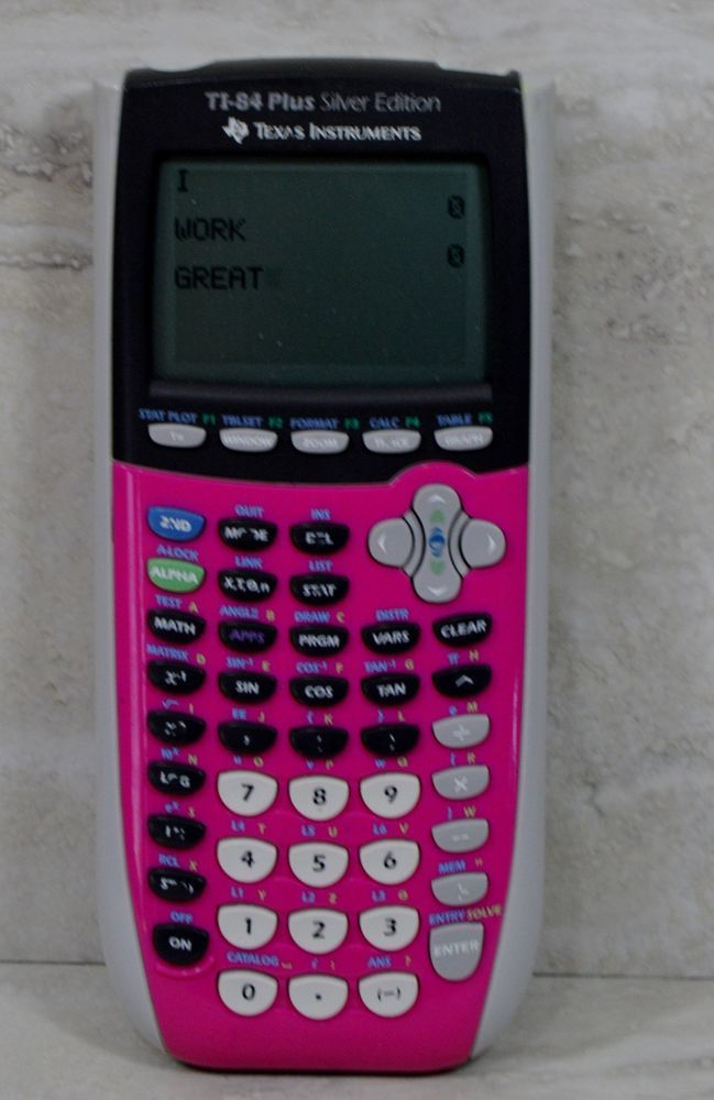 texas instruments ti 84 plus silver edition pink graphing calculator