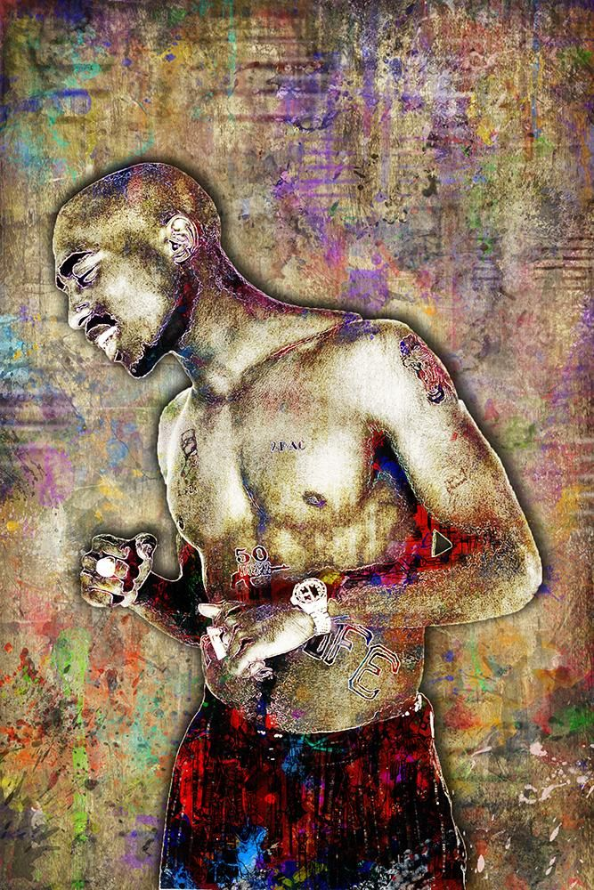 Tupac Poster, Tupac Close Up Portrait Gift, Tupac Memorial 2 Colorful                       – McQDesign