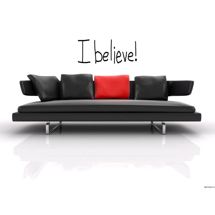 Funny sign I Believe Wall Art Sticker Decal