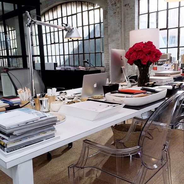Sneak Peek at the Set Design of Nancy Meyers' Latest Movie//Chic Warehouse Office Design